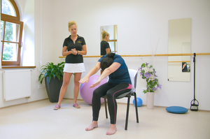 LOOSENING OF SHOULDER JOINTS, STRETCHING BACK FROM CERVICAL SPINE TO LUMBAR SPINE